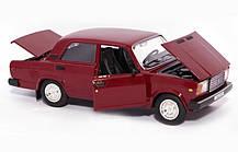Машина металлическая ВАЗ 2107 Автопром. Модель машины ВАЗ 2107. Свет. Звук. Открываются двери, капот, багажник, фото 2