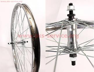"""Велоколесо 24"""" переднее, втулка в сборе"""