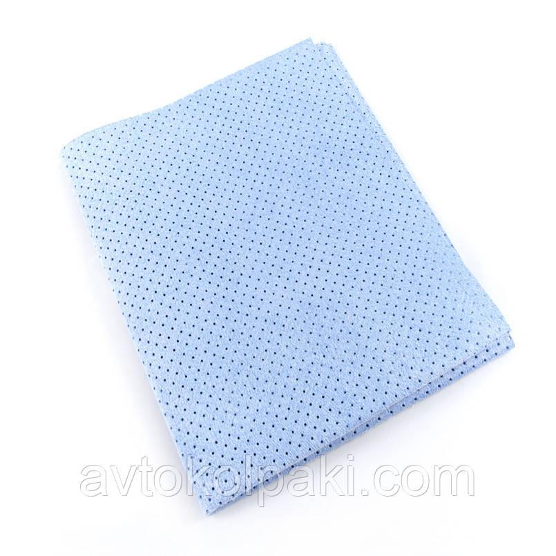 Профессиональная тряпка для авто перфорированная Синяя  NOWAX  40*30 см