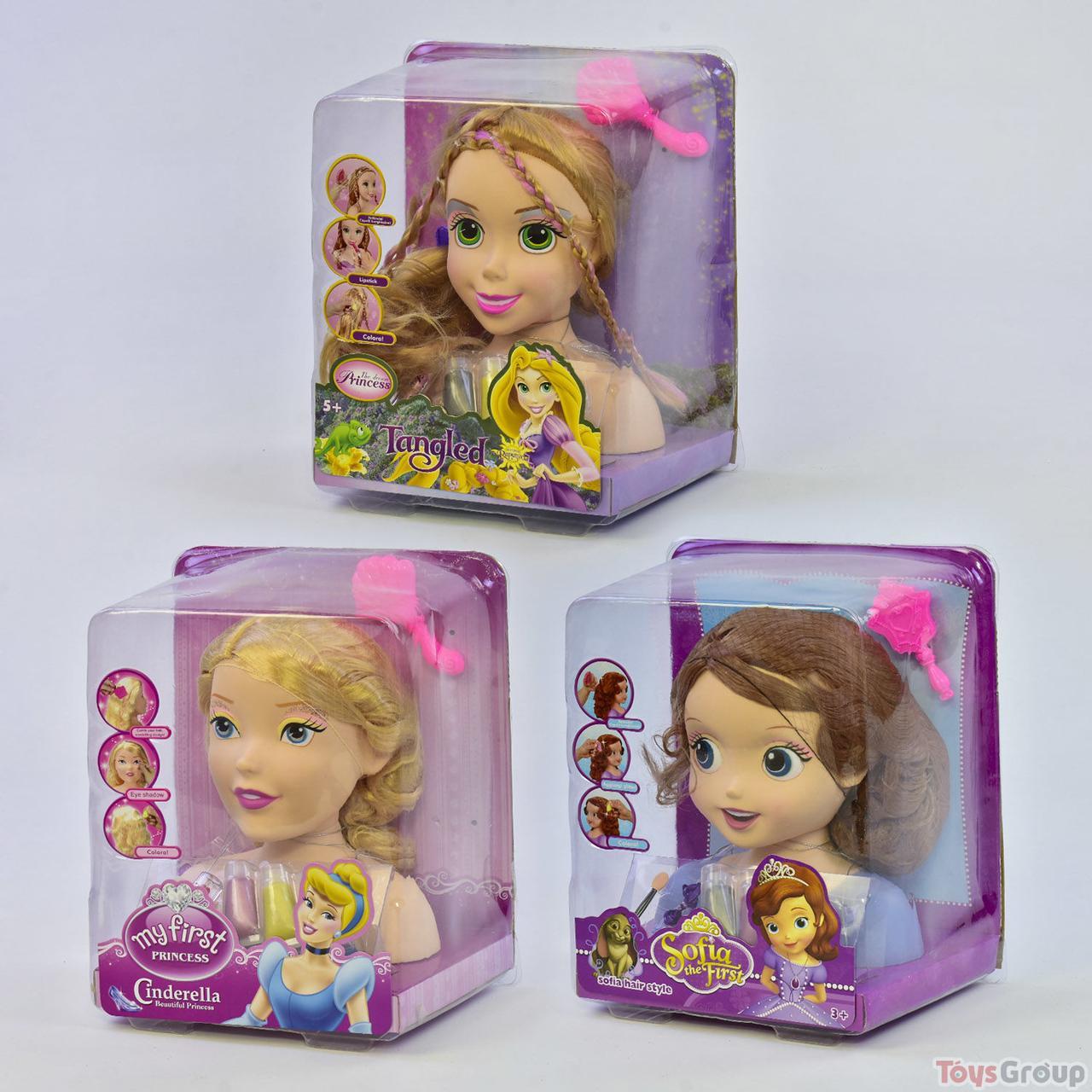 Кукла-голова ZT 8810-22-86 (12) Манекен для причесок и макияжа, в слюде