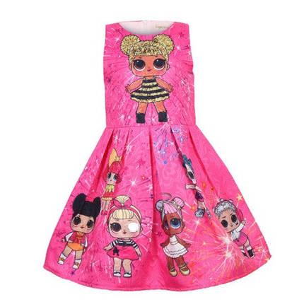 Платье детское на девочку ЛОЛ  малиновое на 3 года, фото 2