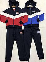 Трикотажный спортивный костюм на мальчика оптом, F&D, 4-12 рр