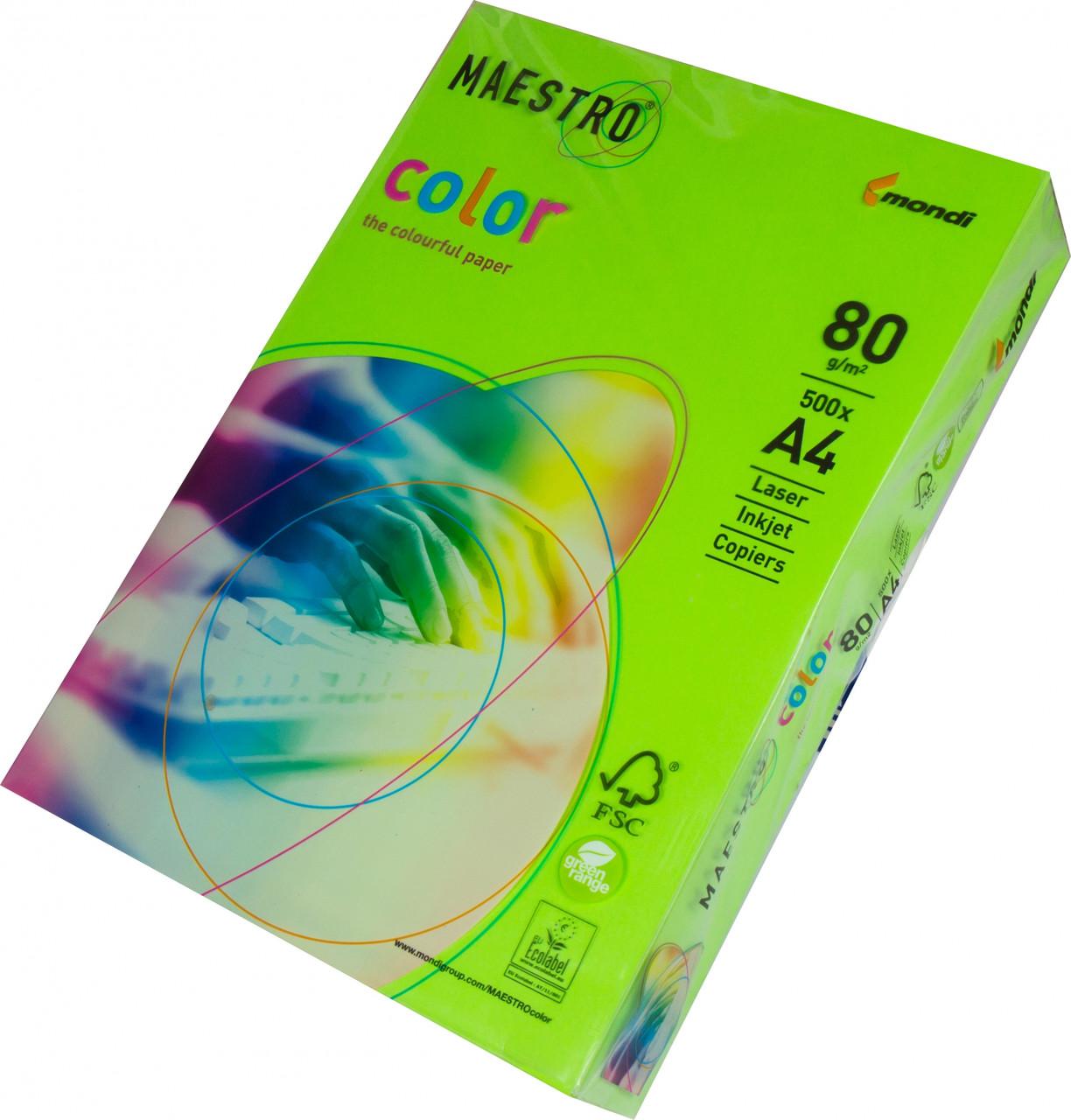 Бумага А4 Maestro Color CO44 LG46 зеленый