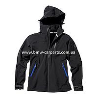 Мужская флисовая куртка Mercedes Men's Softshell Jacket, Black-Blue Details