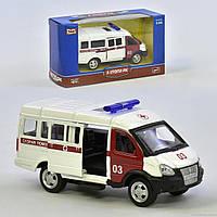 Машинка Скорая помощь 6404 А (108) инерционная, двери открываются, в коробке