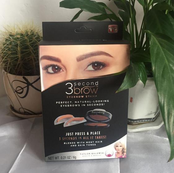 Бьюти Штамп для бровей 3 Second Brow eyebrow stamp 2 цвета OPT20
