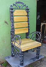 Стул-трон кованый