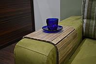 Деревянная накладка, столик, коврик на подлокотник дивана( винтаж) #2i2ua