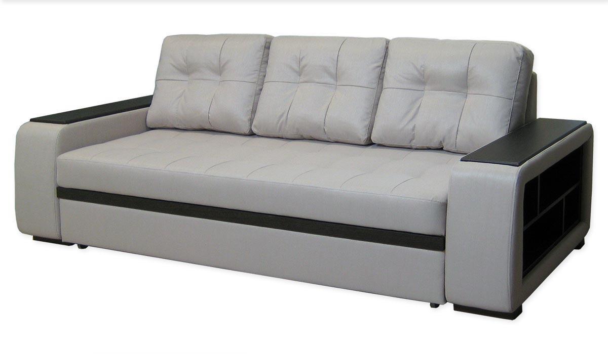 Диван Федеріко прямий, модерн, розкладний, подушки, полки. Під замовлення