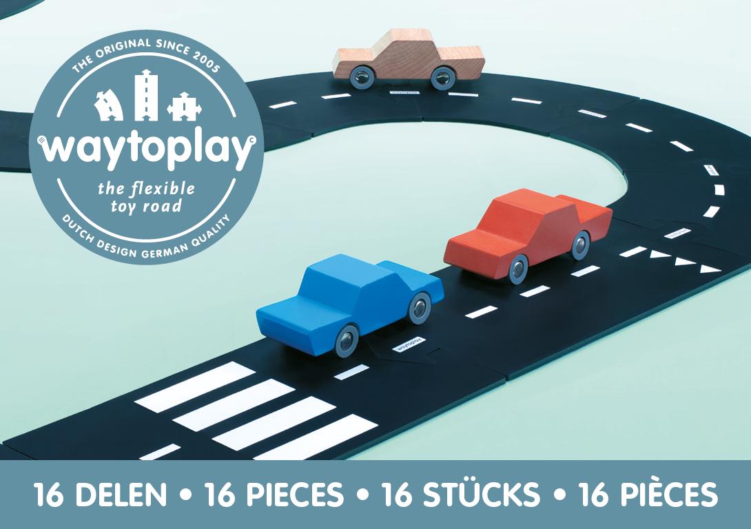 """Waytoplay - Гибкая автомобильная дорога """"Автострада"""", 16 шт"""