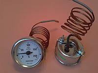 Термометр капиллярный PAKKENS Ø60мм от 0 до 200°С, длина капилляра 1метр     Турция