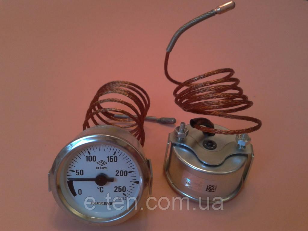 Термометр капиллярный PAKKENS Ø60мм от 0 до 250°С, длина капилляра 1метр     Турция