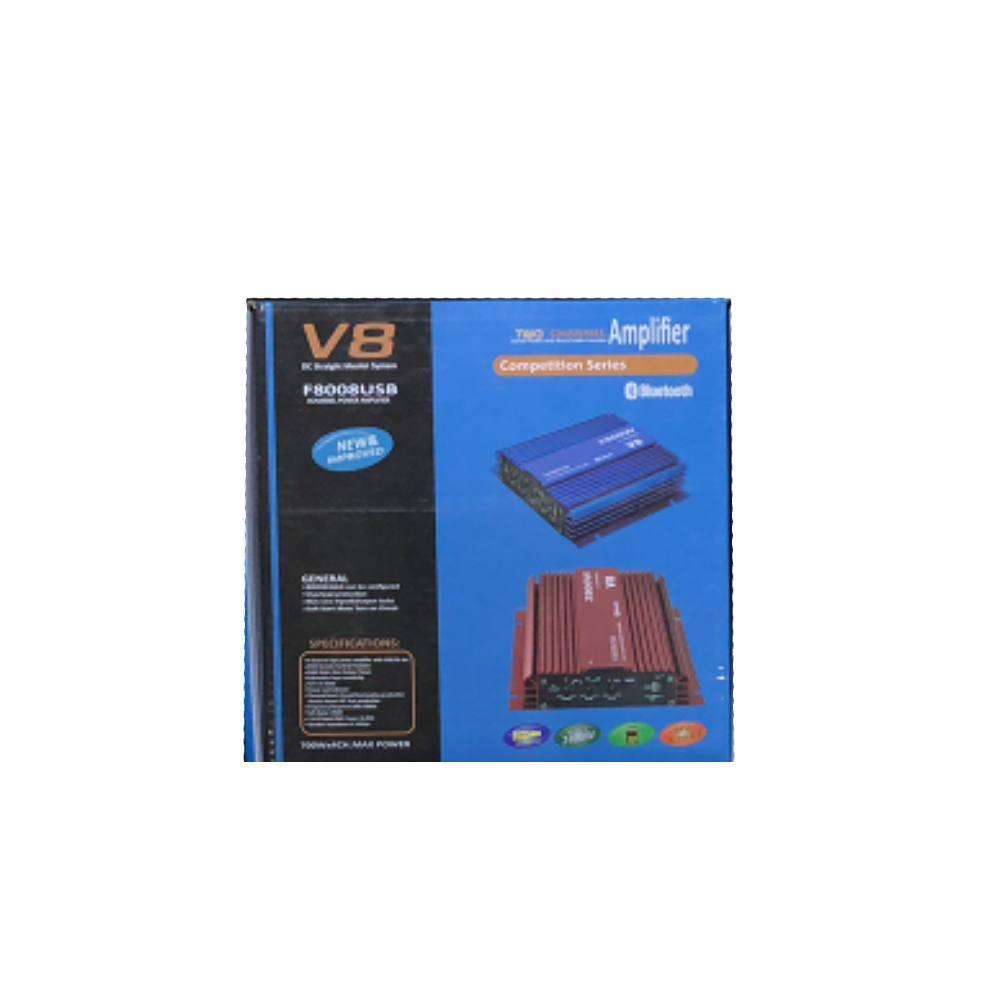 Автомобильный усилитель  CAR AMP V8 Bluetooth