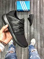 Кроссовки Adidas Tubular radial черные (ТОП реплика), фото 1
