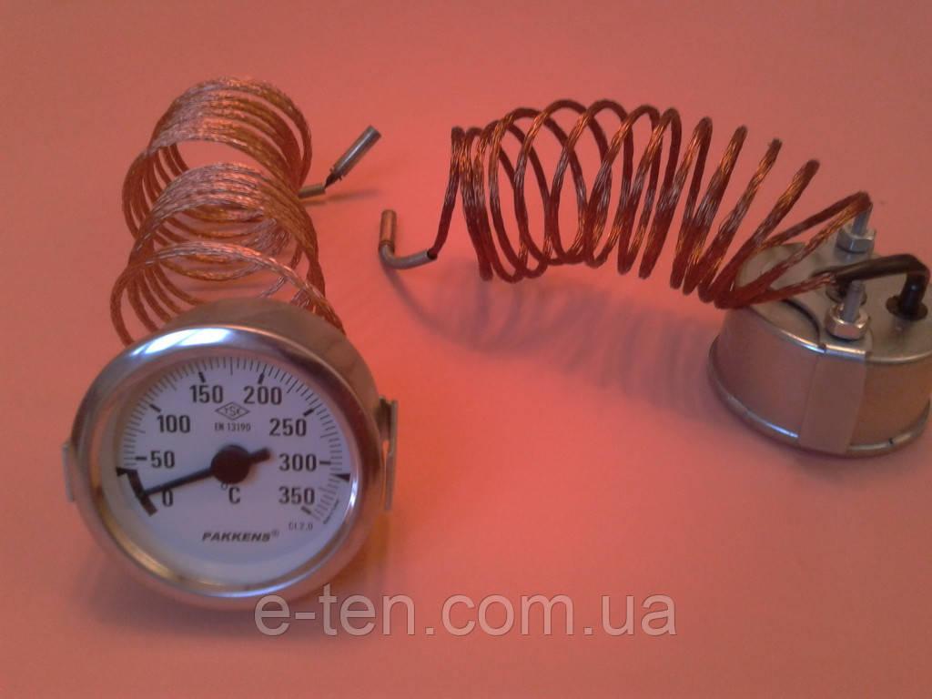 Термометр капиллярный PAKKENS Ø60мм от 0 до 350°С, длина капилляра 2м     Турция