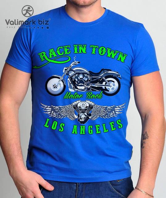 "Футболка мужская  ""Race in Town""  Valimark biz"