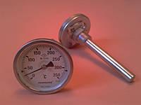"Термометр биметаллический трубчатый PAKKENS Ø63мм / Tmax = 350°С / гильза L=100 мм (с резьбой 1/2"")     Турция"