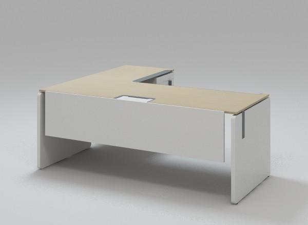 Офисный стол корпусный с тумбой KBS