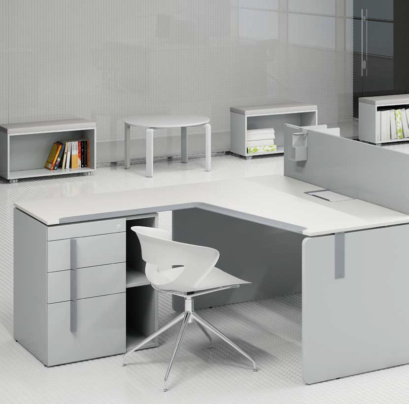Стол офисный угловой с тумбой KBS