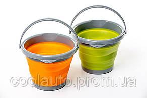 Ведро складное силиконовое Tramp (5L) orange, olive