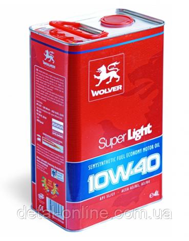 Моторное масло Wolver Super Light 10W-40 API SL/CF (1л), фото 2