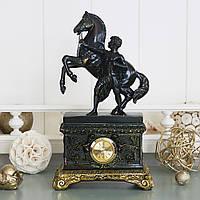 """Часы кабинетные """"Спартанец с конем"""" 27 см Гранд Презент FLP844092B1"""