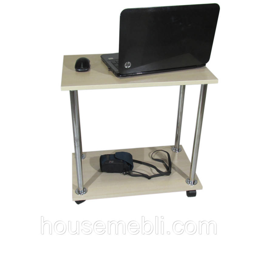 Столик для ноутбука Тавол Loco Молочный Хром