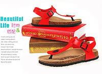 Женские сандалии,босоножки женские. Красный, фото 1