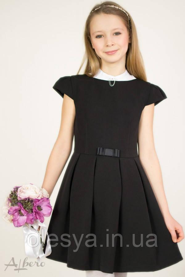 Школьное платье для девочки 1019 ТМ Albero. Размеры 122- 146 Черный