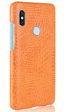 Стильный чехол бампер для Xiaomi Redmi note 5 оранжевый