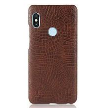 Стильный чехол бампер для Xiaomi Redmi note 5 коричневый