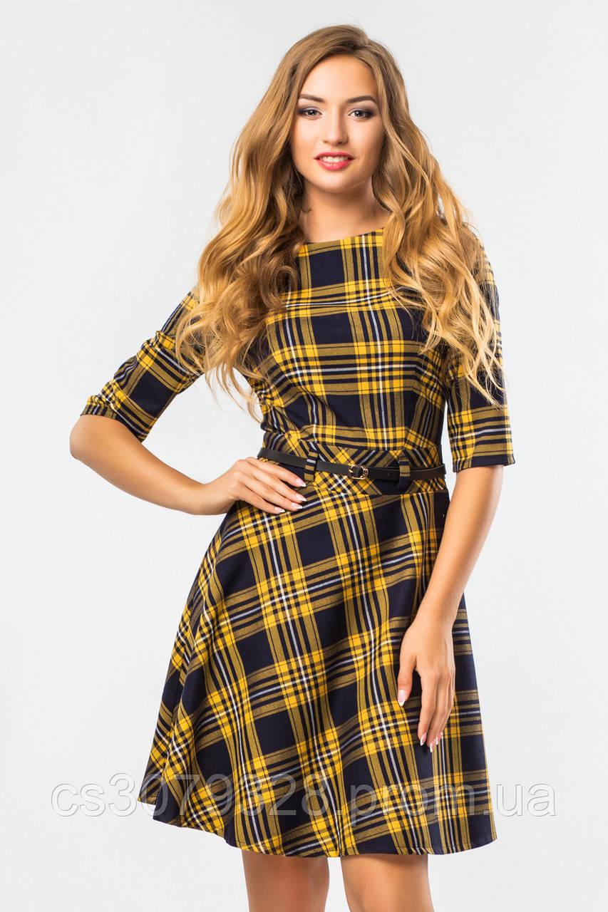 aa3c18248f0 Платье в желто-черную клетку - Интернет-магазин Женской одежды