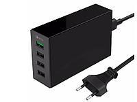 Настольное зарядное устройство ORICO QC2.0 4 USB порта  Черный