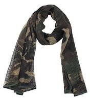 Маскировочный шарф-сетка 190*90 cm. в расцветке Woodland. MFH, Германия.