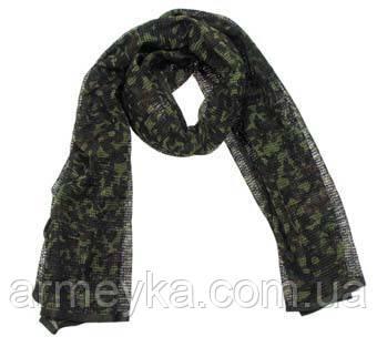 Маскировочный шарф-сетка 190*90 cm. в расцветке flecktarn. MFH, Германия.
