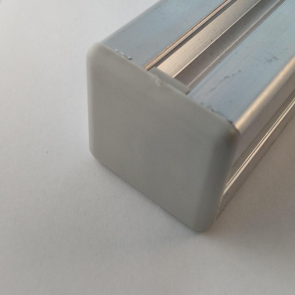 Заглушка торцева 30х30, сірий пластик