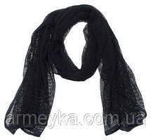 Маскувальний шарф-сітка 190*90 cm., чорний. MFH, Німеччина.
