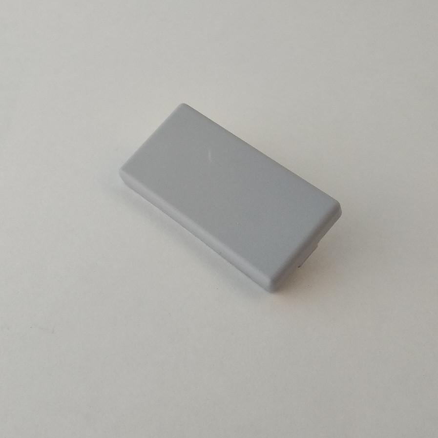Заглушка торцева 20х40, сірий пластик