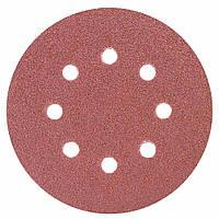 Шлифовальный круг 8 отверстий Ø125мм P60 (10шт) Sigma (9122641)