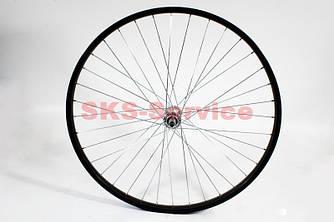 """Колесо велосипеда 26"""" переднє MTB обід і втулка алюмінієві у зборі, крепл. гайка"""
