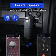 Беспроводной Bluetooth приемник Ugreen с AUX выходом 3.5 мм с микрофоном для автомагнитол, дом.театров, фото 2