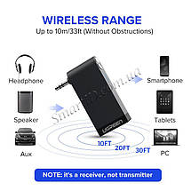 Беспроводной Bluetooth приемник Ugreen с AUX выходом 3.5 мм с микрофоном для автомагнитол, дом.театров, фото 3