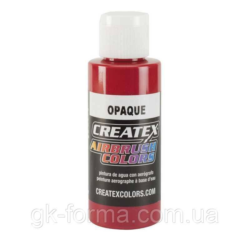 Акриловая краска для аэрографии Createx Colors красная (Opaque Red)