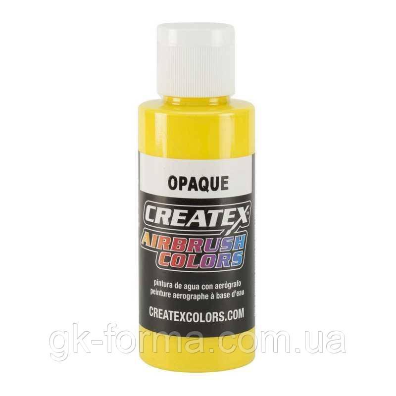 Краска для аэрографии Createx Colors, Opaque Yellow (желтая), 60 мл