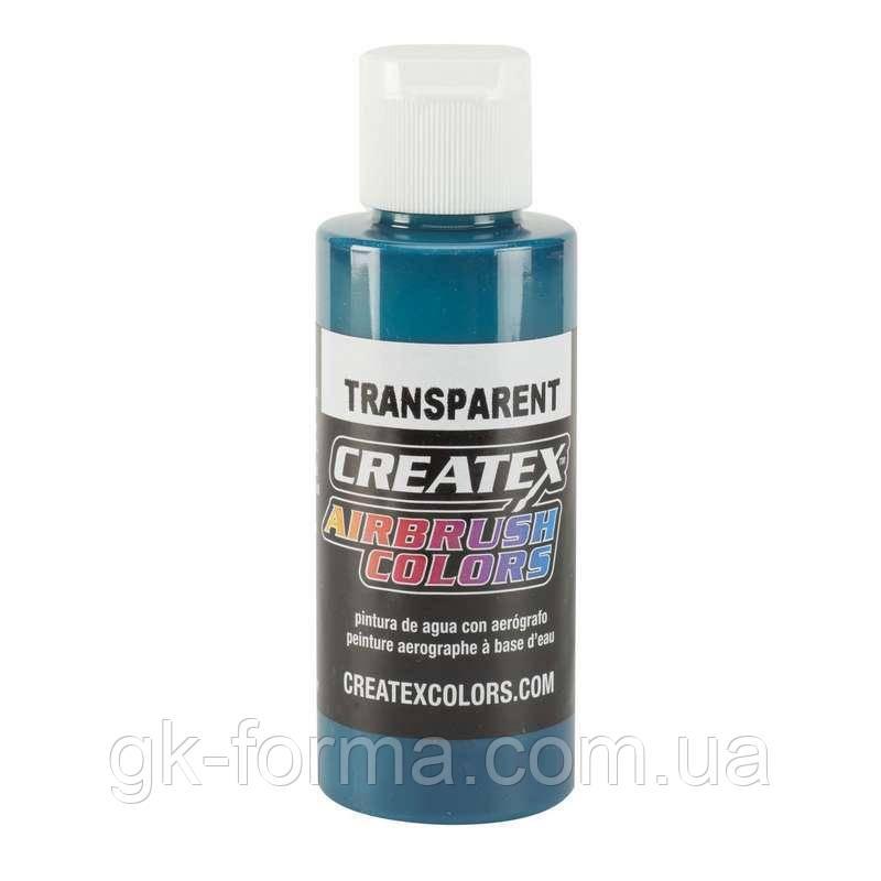 Краска для аэрографии Createx Transparent Aqua, цвет морской волны, аква.