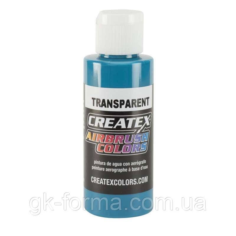 Акриловая краска для аэрографии Createx Colors Transparent Turquoise, бирюзовый цвет