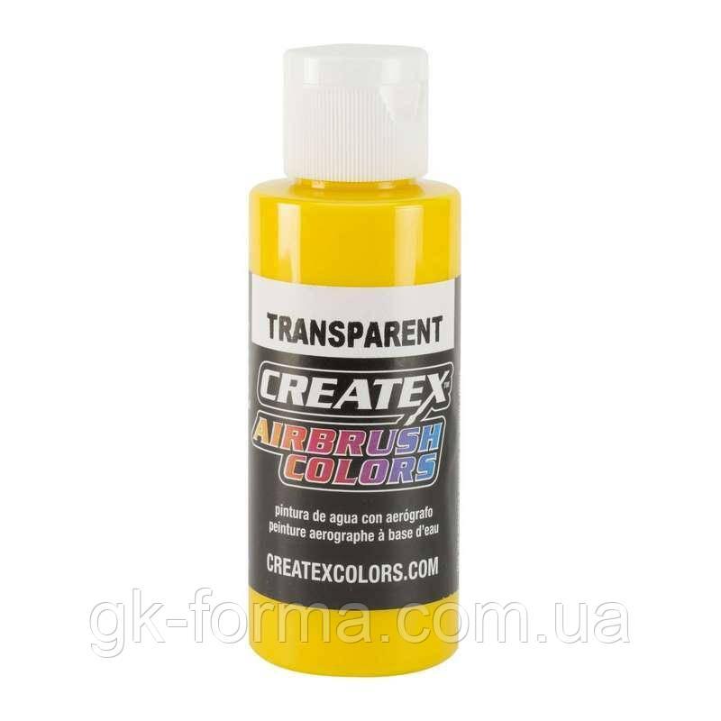 Краска для аэрографии Createx Airbrush Colors Transparent Brite Yellow, цвет ярко-желтый