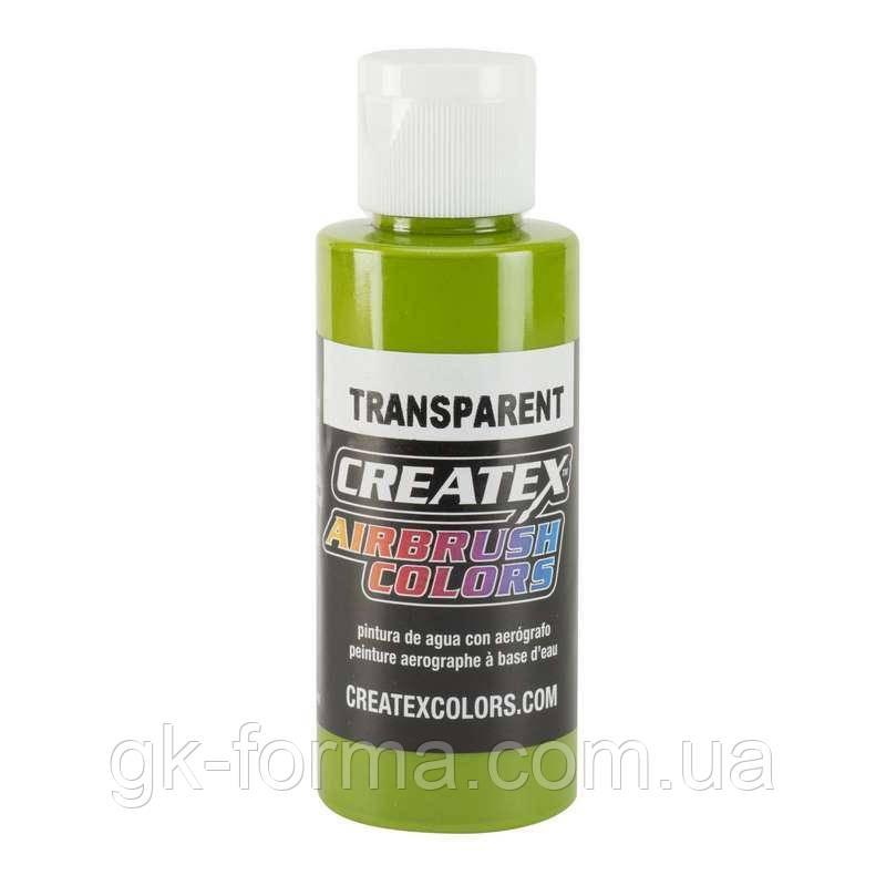 Краска Createx Colors Transparent Leaf Green, салатовый, зеленый лист