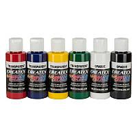 Набор красок для аэрографии Createx Colors Primary Set (прозрачные цвета)