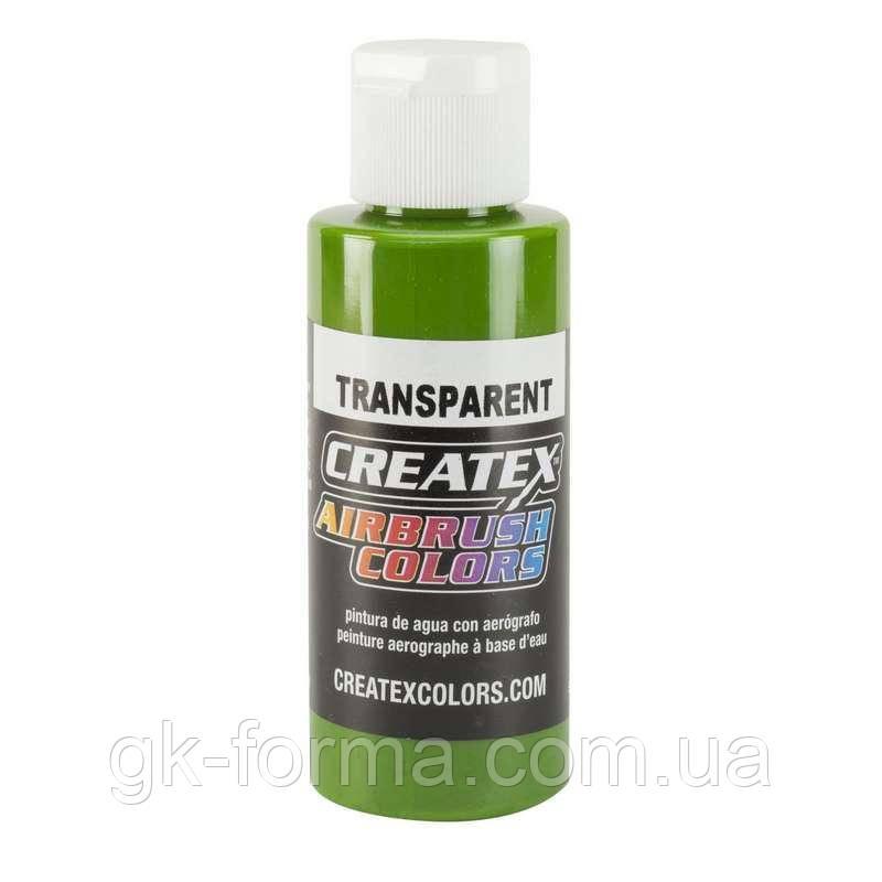 Краска на водной основе для аэрографии Createx Transparent Tropical Green, тропический зеленый